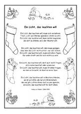 Weihnachten Gedichte.Arbeitsblatt In Der Grundschule Weihnachts Gedichte Gedichte Im
