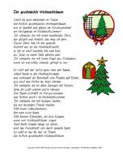 Tannenbaum Gedicht.Advent In Der Grundschule Gedichte Weihnachten Feste Und