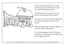 Arbeitsblatt in der Grundschule - lesen und malen - Lese-Mal-Blätter ...