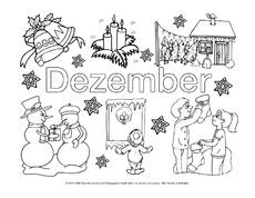 Ausmalbilder Monate Die Jahreszeiten Jahreszeiten Hus Klasse 2
