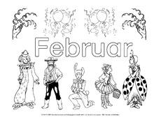 Februar In Der Grundschule Ausmalbilder Monate Die Jahreszeiten