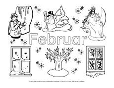 Ausmalbilder Monate Die Jahreszeiten Jahreszeiten Hus Klasse 2 Grundschulmaterial De