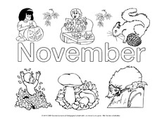 Jahreszeiten In Der Grundschule Ausmalbilder Monate Die