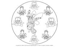 Frühlings Mandala In Der Grundschule Mandalas Frühling
