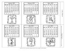 Lapbook-Kalender in der Grundschule - Lapbook - Jahreszeiten ...
