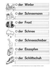 Nomen-Winterwörter in der Grundschule - Winter - Jahreszeiten - HuS ...