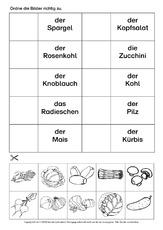 Lebensmittel (Arbeitsblatt) in der Grundschule - HuS Klasse 2 ...