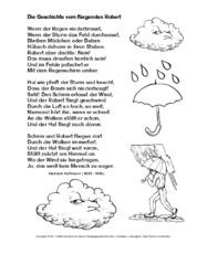 Wetter Gedichte In Der Grundschule Wetter Gedichte
