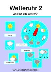 Wetteruhr Wetter Klasse 2 3 Themen Und Projekte Hus Klasse 2