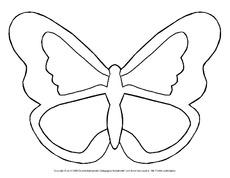 Bastelvorlage in der Grundschule - Fensterbild Schmetterling ...