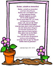 Muttertagsgedicht In Der Grundschule Muttertag Feste