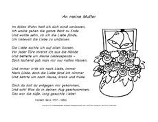 Lernkartei in der grundschule hus klasse 3 - Muttertag grundschule ...
