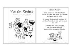 Von Den Kindern Khalil Gibran Muttertag Lesetexte