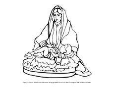 ausmalbild-maria-jesus-3 - religiöse motive - ausmalbilder - weihnachten - feste und feiertage