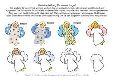 Weihnachtsbasteln Grundschule Kostenlos.Arbeitsblatt In Der Grundschule Engel Basteln Basteleien
