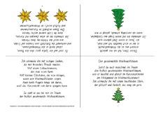 Tannenbaum Gedicht.Der Geschmückte Weihnachtsbaum B Druckvorlagen Weihnachtsgedichte