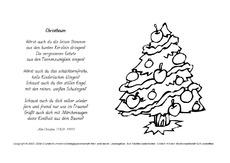 Ausmalbilder weihnachtsgedichte werkstatt weihnachtsgedichte gedichte weihnachten feste - Tannenbaum englisch ...