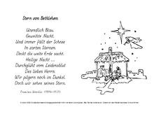 Weihnachtsgedichte stern bethlehem