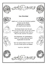 schmuckblatt in der grundschule gedichte im schmuckrahmen werkstatt weihnachtsgedichte