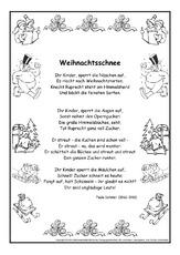 Weihnachtsgedichte Mit 3 Strophen.Schmuckblatt In Der Grundschule Gedichte Im Schmuckrahmen