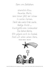 Gedichte stern von bethlehem