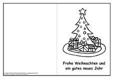 Weihnachtskarte Für Einzelarbeit In Der Grundschule Feste