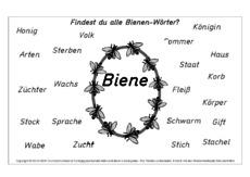 Arbeitsblatt in der Grundschule - Arbeitsblätter-Honigbiene ...