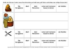 Satzanfang (Arbeitsblatt) in der Grundschule - Honigbiene-Werkstatt ...