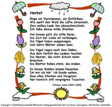 Gedichte Mit Schmuckrahmen Herbst Jahreszeiten Hus Klasse 3