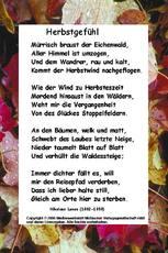 Gedichte Mit Schmuckrahmen Herbst Jahreszeiten Hus