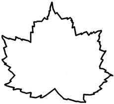 Bastelvorlage In Der Grundschule Schablonen Blätter Herbst