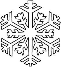 schneeflocke in der grundschule - winter - jahreszeiten