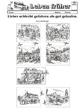 Verkehr (Arbeitsblatt) in der Grundschule - Leben früher ...