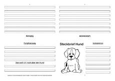 hund steckbriefvorlage sw tiersteckbrief vorlagen sw steckbriefe tiere sachthemen hus. Black Bedroom Furniture Sets. Home Design Ideas