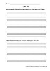 Textverständnis in der Grundschule - Tiere - Sachthemen - HuS Klasse ...