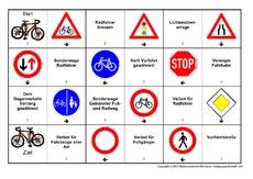 fahrrad verkehrszeichen 4 klasse