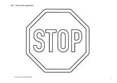 Verkehrserziehung In Der Grundschule Vorschriftzeichen