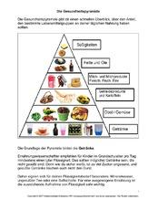 Arbeitsblatt In Der Grundschule Infoblätter Ernährung