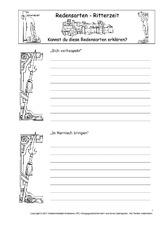 Arbeitsblätter - Mittelalter - Ritter - Themen und Projekte - HuS ...