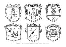 zunftzeichen in der grundschule mittelalter ritter themen und projekte hus klasse 3. Black Bedroom Furniture Sets. Home Design Ideas