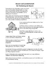 arbeitsblatt in der grundschule bauern landwirtschaft mittelalter ritter themen und. Black Bedroom Furniture Sets. Home Design Ideas