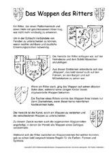 Arbeitsblatt in der Grundschule - Mittelalter - Ritter - Themen und ...