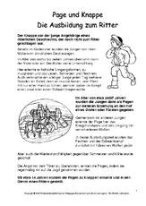 Beruf in der Grundschule - Mittelalter - Ritter - Themen und ...