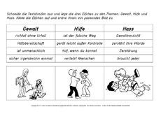 Werteerziehung (Arbeitsblatt) für Stillarbeit in der Grundschule ...