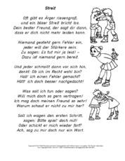 Werteerziehung in der Grundschule - Reime - Empathie-Werteerziehung ...