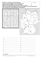 arbeitsblatt bundesl nder bundeslandkarten bundesrepublik deutschland erdkunde. Black Bedroom Furniture Sets. Home Design Ideas