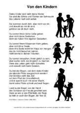 Mini Buch Von Den Kindern Minibücher Texte Gedichte