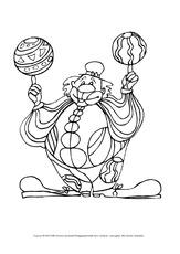 Clowns Ausmalbilder Bildende Kunst Material Klasse 1