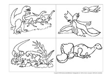 Dinosaurier in der Grundschule - Dinos zum Ausmalen - Ausmalbilder ...
