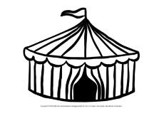 Zirkuszelt In Der Grundschule Im Zirkus Ausmalbilder Bildende